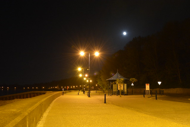Full Moon Overlooking Apply Beach