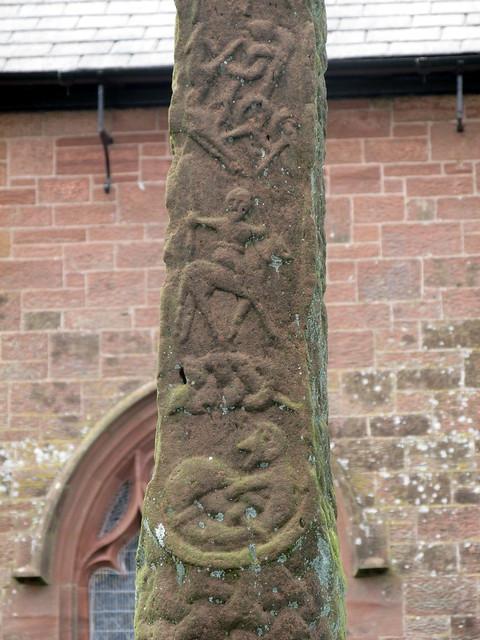 Detail of Carvings - Gosforth Cross