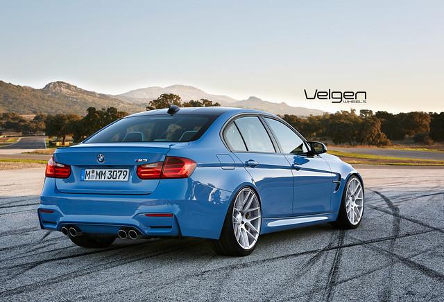 Render BMW F80 on Velgen Wheels VMB7 Matte Silver