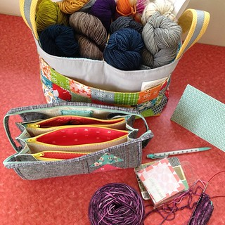 My wonderful #ssm6 swap package from Andrea @crabapplequilts as you can see I've already cast on a sock with the gorgeous yarn she sent me!