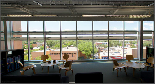 University of New Mexico Fine Arts Library - Looking South
