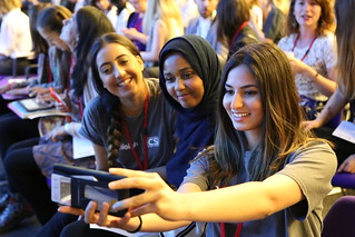 Posing for selfies at the Girls' Education Forum, London, 7 July 2016 | by DFID - UK Department for International Development