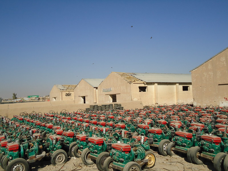Outdoor Storage Area for Irrigation Pumps