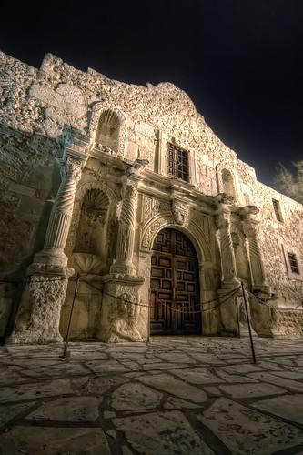 door wood old building stone architecture night sanantonio bravo shrine texas battle hero 20 alamo hdr highdynamicrange top20texas bestoftexas