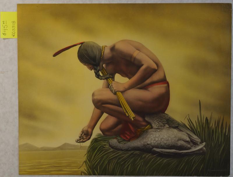 RD3318 Samuel Schiff Co. N.Y. - Indian by Waters Edge DSC04973