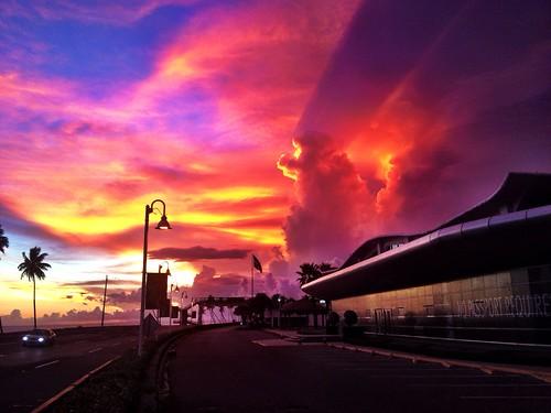 sunset fall clouds santodomingo
