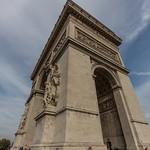 Emily resting on the Arc de Triomphe