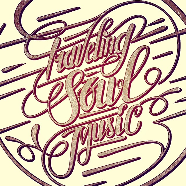 Worked on a new logo design for traveling soul music today. Quite happy where it's going.. What do you think? #thedailytype #typeverything #typespire #typographyinspired #typographyjournalsubmission #typographi #typearound #typedaily #goodtype #calligrity