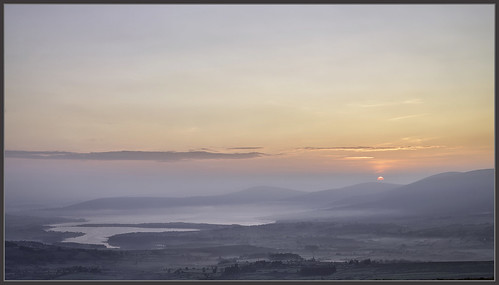 ireland sky sun mist mountain lake sunrise dawn wicklow