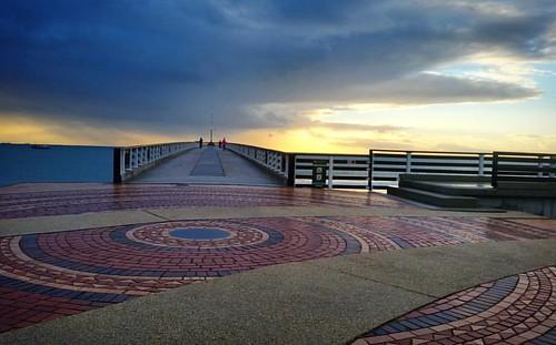 sunrise square pier running run squareformat paving hobiebeach sharkrockpier parkrun instagramapp