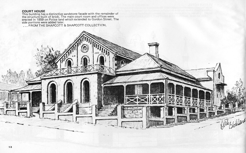 Court House, Ipswich   Pen and ink sketch by Dirk Blokland