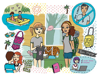 illustration for Girls' Life Magazine | by lizin8or
