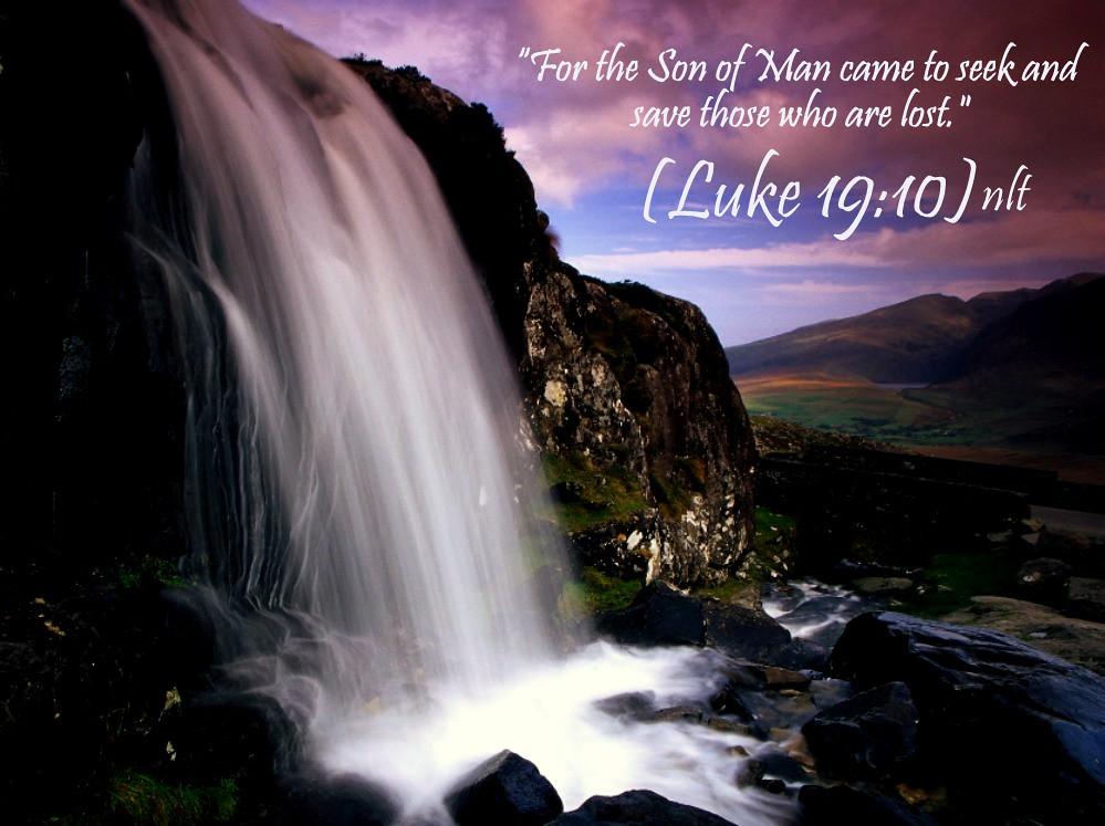 Luke 19:10 nlt | 08-06-13 Today's Bible Scripture  | Bob