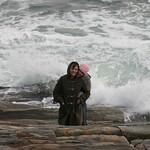 Sarah and mom + ocean
