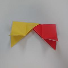 วิธีการพับกระดาษเป็นดาวหกแฉกแบบโมดูล่า 009