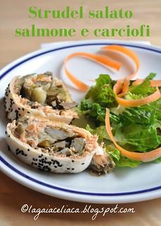 strudel salato salmone e carciofi | by mammadaia