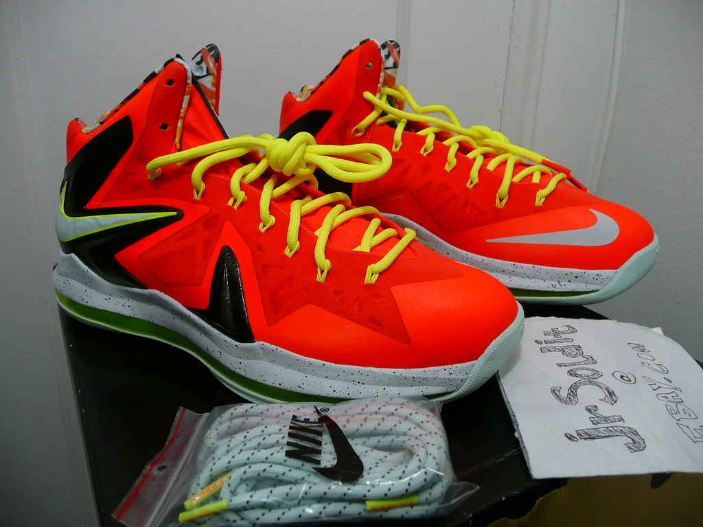 check out acd64 2294f ... Nike LeBron 10 X P.S. Elite Total Crimson Fiberglass-Black-Volt 579827-