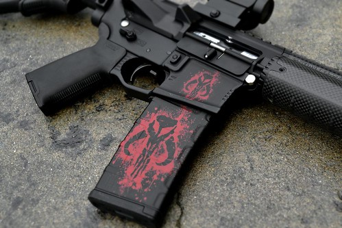 Mercenary Skull AR-15