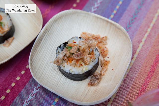 Pig and ear tonkatsu kimbap by Insa