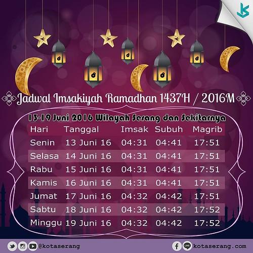 Jadwal Imsakiyah Ramadhan 1437H, 2016 M Tanggal 13Juni -19 ...