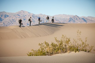 Manfrotto Be Free Tripod ad shoot BTS - Death Valley Mesquite Sand Dunes walk | by The Bui Brothers
