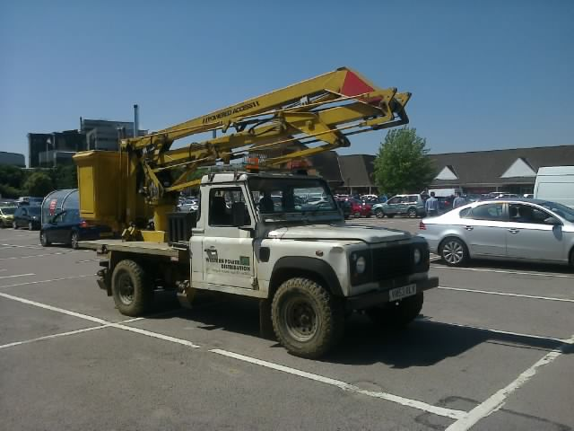 Western Power Distribution Land Rover Defender 130 Cherryp