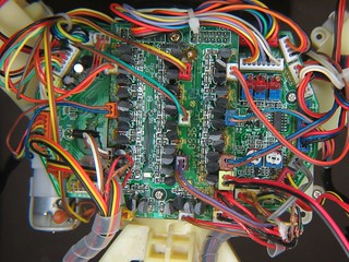 Motherboard through magnifier