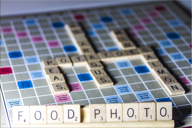 Food Photography #6 - Scrabble Food