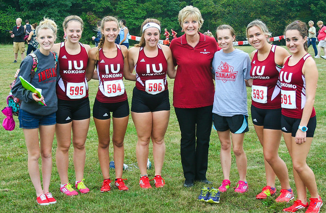 Interim Chancellor Susan Sciame-Giesecke with Cross Country Team