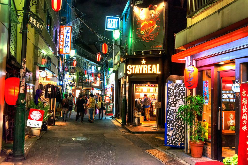 Harajuku Dori | Harajuku Dori at night with the Stay Real Ja… | Flickr