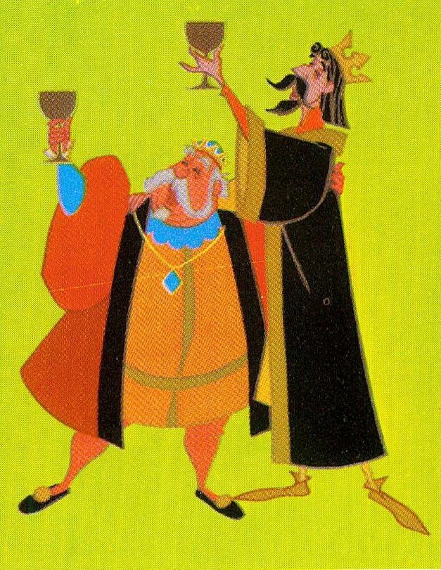 1957 Sleeping Beauty Castle - King Hubert and King Stefan