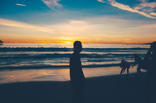 my silhouette @ Santa Monica Beach | by Wang Sanjin