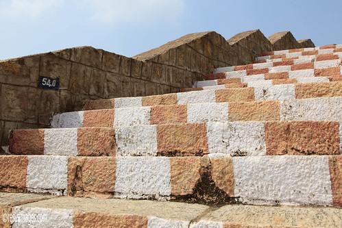 treppe madurai indien tamilnadu ind 600stufen dindigulforttemple