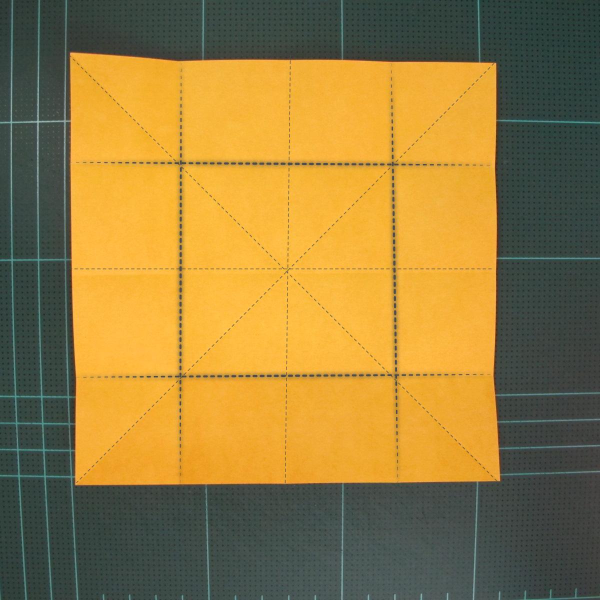 สอนวิธีพับกระดาษเป็นดอกกุหลาบ (แบบฐานกังหัน) (Origami Rose - Evi Binzinger) 003