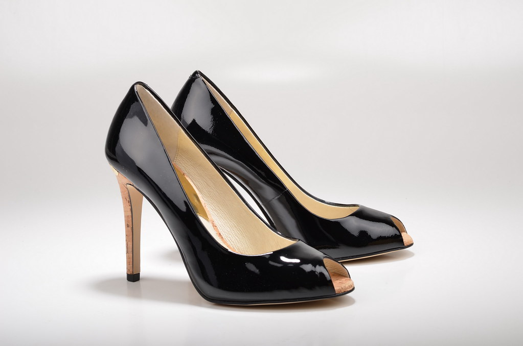 Michael Kors Keegan Pump Peep Toe High Heel mit Korkabsatz