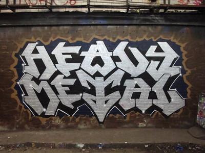 Heavy Metal graffiti, Leake Street