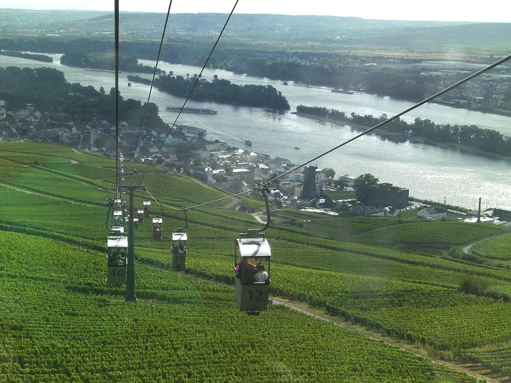 Rüdesheim: Seilbahn zum Niederwalddenkmal
