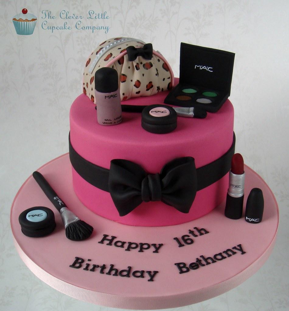 Sensational Mac Cosmetics Cake White Chocolate Mud Cake With Hand Mode Flickr Personalised Birthday Cards Sponlily Jamesorg