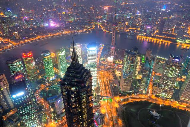 Evening Shanghai cityview
