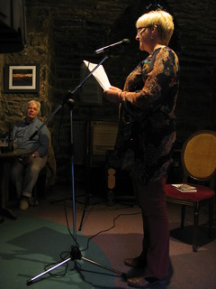 Nancy Somerville at Shore Poets June 2013   by TheObviousChild
