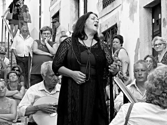 Singing fado in the streets of Lisbon