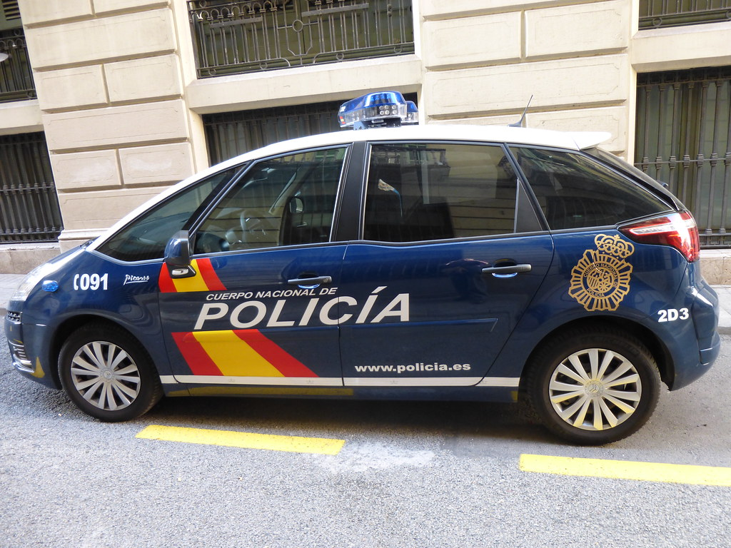Spanish Police Car Barcelona Spain 2013 Devil Fang Flickr