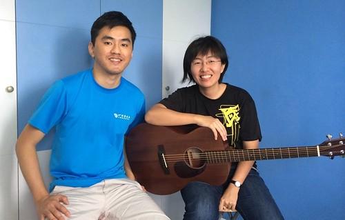 Private guitar lessons Singapore Desiree