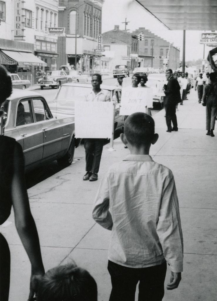 A meeting on Main Street, Farmville, Va., July 1963