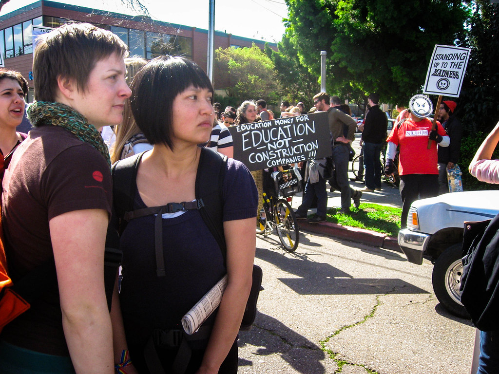 """""""March Forth"""" protest in Berkeley, Calif. on March 4, 2010."""