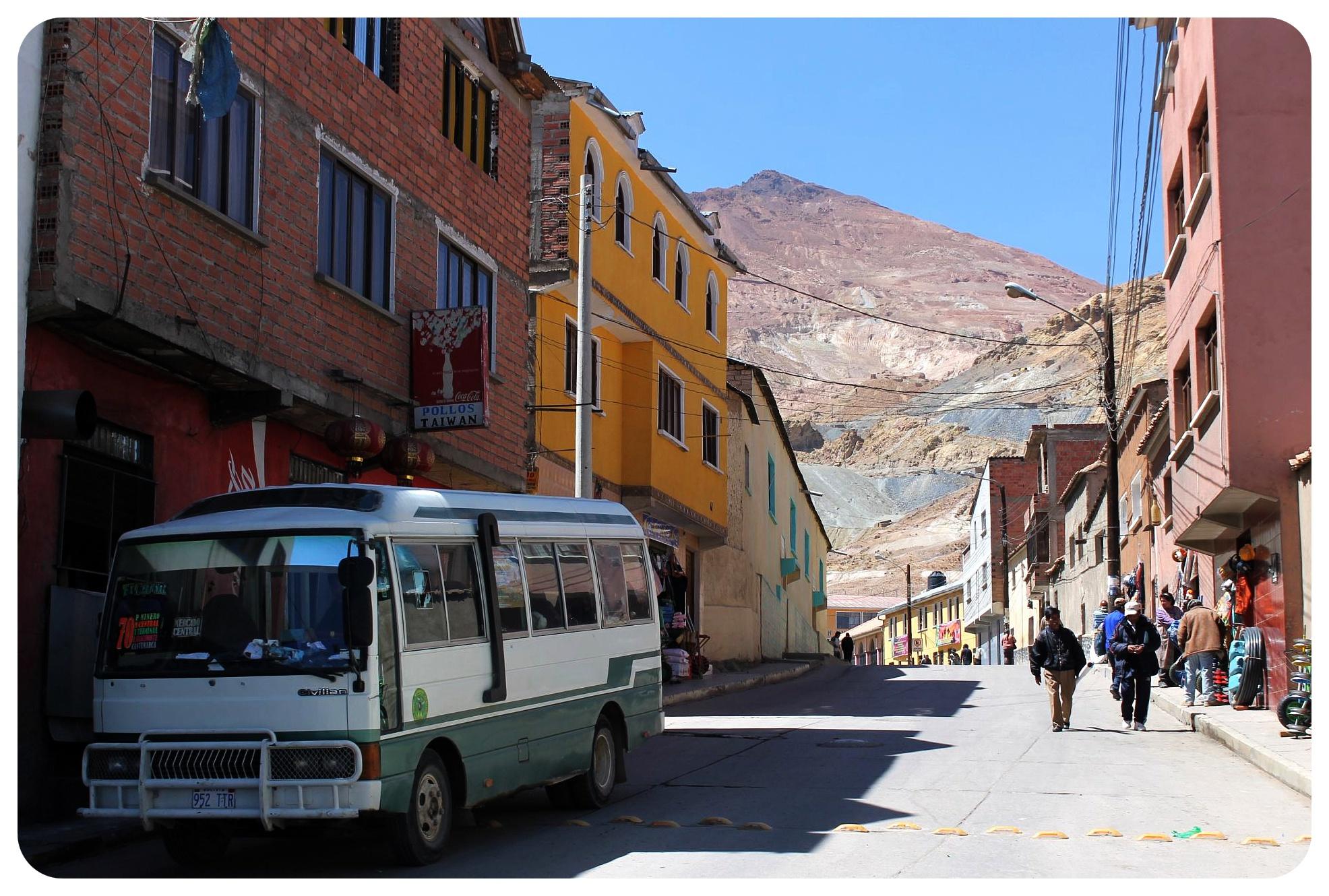 potosi street with cerro rico view