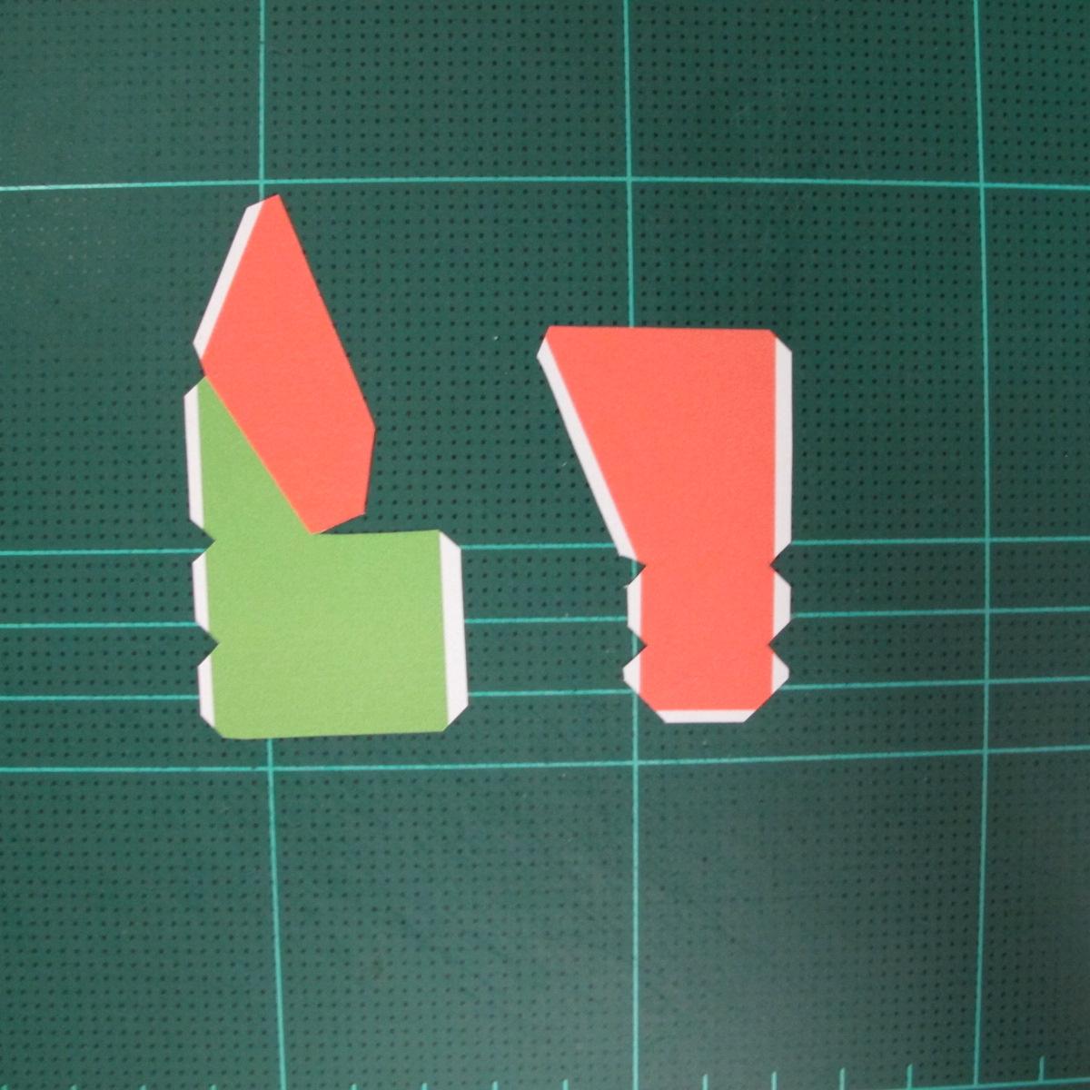 วิธีทำโมเดลกระดาษตุ้กตา คุกกี้ รัน คุกกี้รสซอมบี้ (LINE Cookie Run Zombie Cookie Papercraft Model) 014