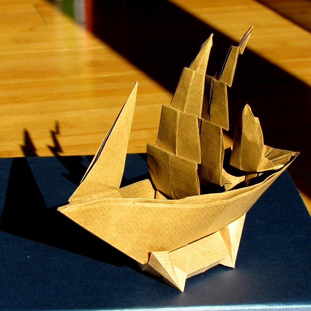 How to Make a Cute Origami Sail Boat! | Origami boat, Cute origami ... | 640x640