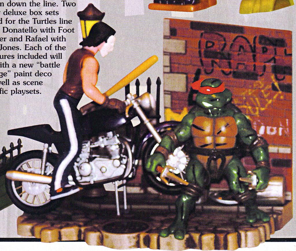 Tomart's Action Figure Digest #xx :: pg.21 SDCC '03 TMNT 2k3, Wave 2 peek / .. unproduced DLX 'Raphael v. Casey Jones' boxed set (( xx 2003 )) by tOkKa