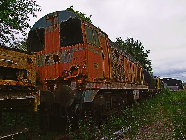 French CFD 2001, (ex BR 20035) out of service, since return from France. Colne Valley Railway, Essex. 09 06 2013JPG